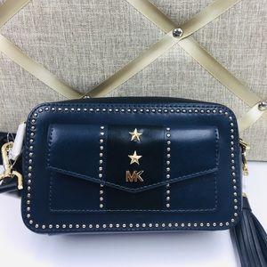 Michael Kors Blue & Black Crossbody Camera Bag
